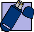 Usb flash drive vector illustration Royalty Free Stock Images