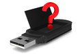 Usb flash drive on white background d image Royalty Free Stock Photos