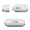 Usb flash memory set on the white background illustration Stock Photo