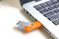 Usb g modem for wireless internet close up Royalty Free Stock Image