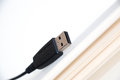 Usb line on white note Royalty Free Stock Image