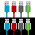 USB plugs Royalty Free Stock Image