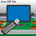 USB signal Test in Process Production Television Royalty Free Stock Image