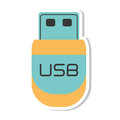 Usb storage device isolated icon Royalty Free Stock Photo