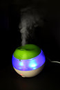 Usb ultrasonic humidifier isolated black background Stock Photo
