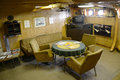 USCGC Ingham (WHEC-35) Captain Room Royalty Free Stock Image