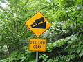 USE LOW GEAR sign. Royalty Free Stock Photography
