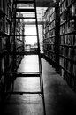 Used bookstore an aisle in a Royalty Free Stock Image