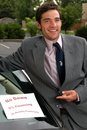 Used Car Salesman Royalty Free Stock Image