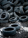 Used car tires Royalty Free Stock Photos