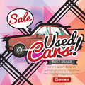 Used Cars Sale 6250x2500 pixel Banner. Royalty Free Stock Photo