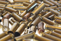 Used empty old bullet cartridges Stock Photography