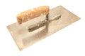 Used finishing trowel isolated on white Royalty Free Stock Image