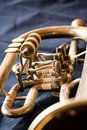 Used old trumpet, closeup Royalty Free Stock Photo