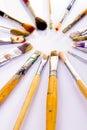 Used paint brushes Royalty Free Stock Photos