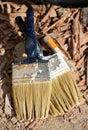 Used paint brushes Royalty Free Stock Photo