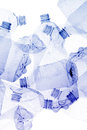 Used plastic bottles background recycling with white Royalty Free Stock Photos