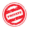 Used private stamp Royalty Free Stock Photo