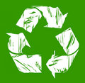 Used recycling symbol Stock Photography