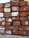 Used red brick stacks of bricks for construction Royalty Free Stock Photography