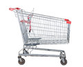 Used shopping trolley Stock Photo