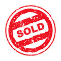 Used sold stamp Stock Photography