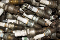 Used spark plugs Royalty Free Stock Photo