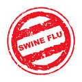 Used Swine Flu stamp Stock Image
