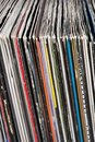 Used vinyl records Stock Photo