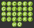Useful alphabet icons Royalty Free Stock Photo