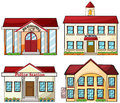 Useful buildings illustration of the on a white background Stock Photography