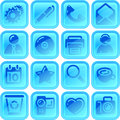 Useful button or icon set for your website android application Stock Photo
