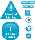 Useful Links button web glass icon Stock Photos