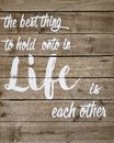Useful tips about life print on wood background Royalty Free Stock Photo