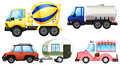 Useful vehicles illustration of the on a white background Stock Photos