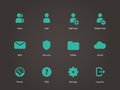 User account icons vector illustration Stock Photos