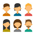 User Avatar Icons Set in Flat Design Style. Vector Royalty Free Stock Photo