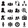 User, businessman , avatar icons set Royalty Free Stock Photo