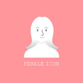 User female icon vector.
