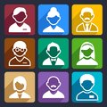 User flat icons set family and people for web and mobile applications Royalty Free Stock Photo
