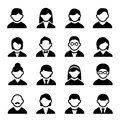 User icons set family and people with white background Royalty Free Stock Images