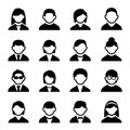 User icons set family and people with white background Stock Photo