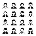 User icons set family and people with white background Royalty Free Stock Photography