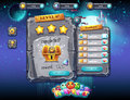 User interface for computer games and web design with buttons, prizes, levels and other elements. Set 2. Royalty Free Stock Photo