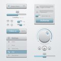 User interface design elements template kit for a application adaptive apps flat d ui Royalty Free Stock Photography