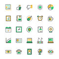 User Interface and Web Colored Vector Icons 8 Royalty Free Stock Photo