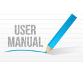User manual written on a notepad paper illustration design Royalty Free Stock Images