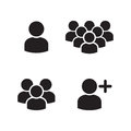 User Profile Group Icons Set Royalty Free Stock Photo