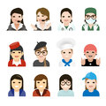 User woman jobs icons vector illustration Stock Photos
