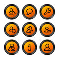 Users icons, orange series Stock Image